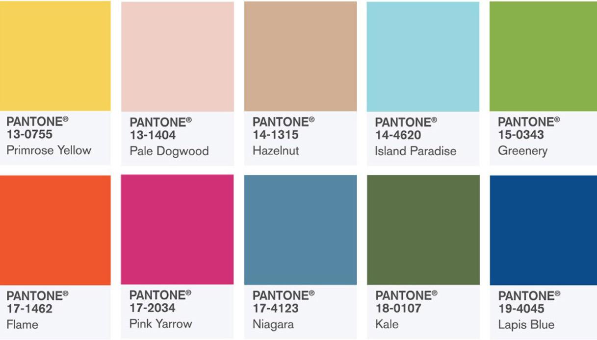 Colori Da Abbinare Al Rosa pantone, i colori di tendenza per la primavera-estate 2017