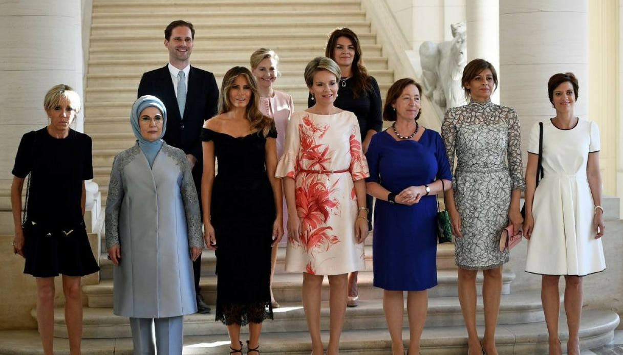 First Lady e First Gentleman al vertice Nato