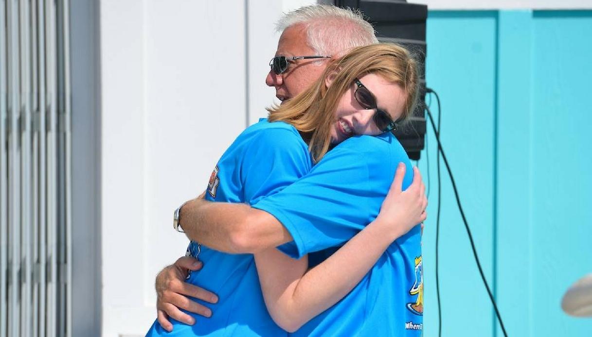 Gordon Hartman con la figlia Morgan
