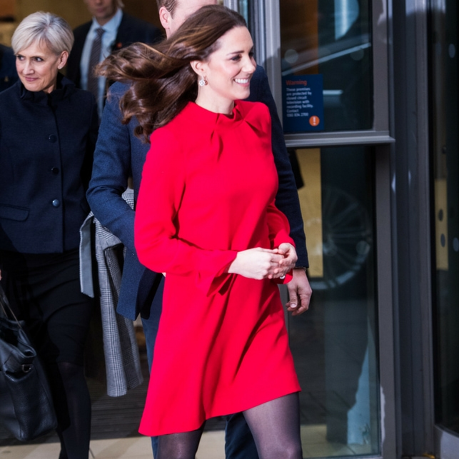Kate Middleton in rosso