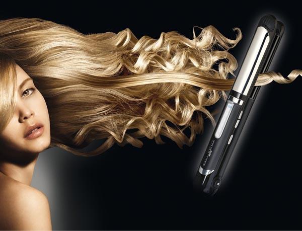 piastra arrotondata per capelli lisci o mossi