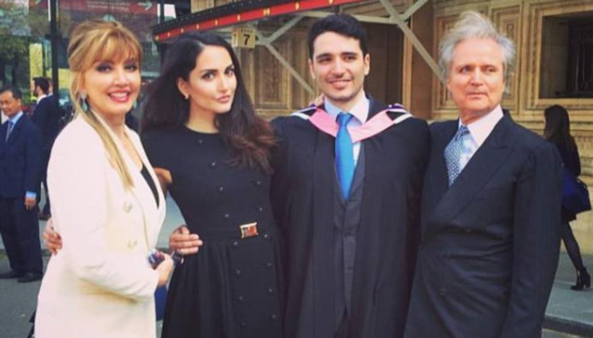 Milly Carlucci e la famiglia