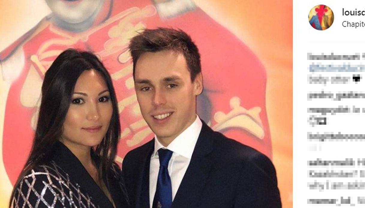 Louis Ducret con la fidanzata