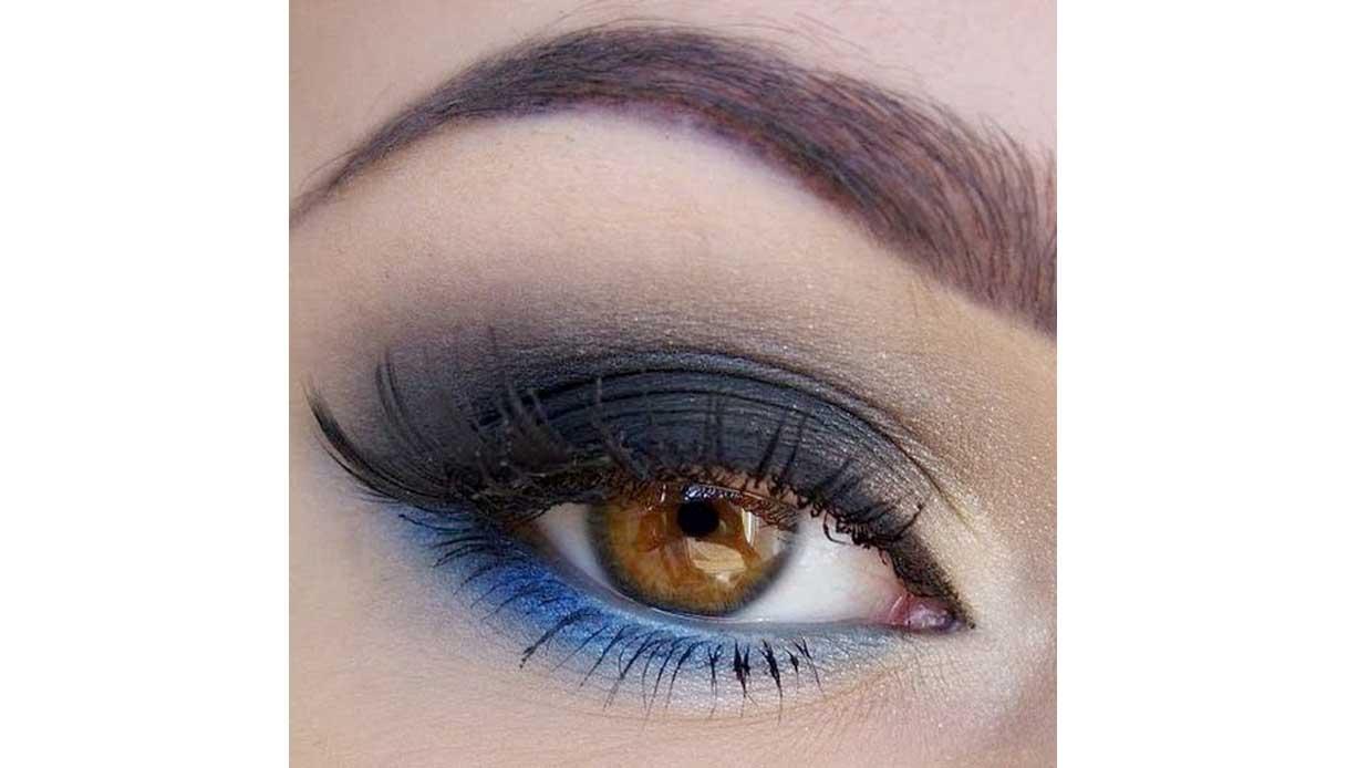 Come truccare gli occhi castani - blu