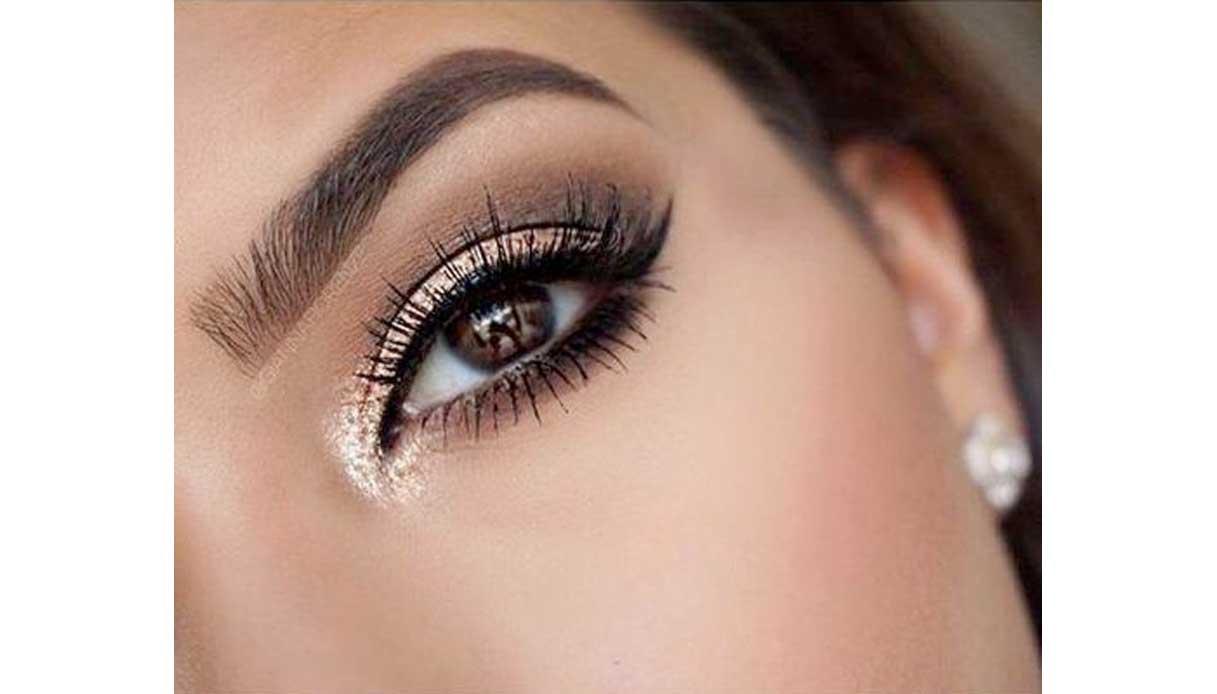 Come truccare gli occhi marroni - oro