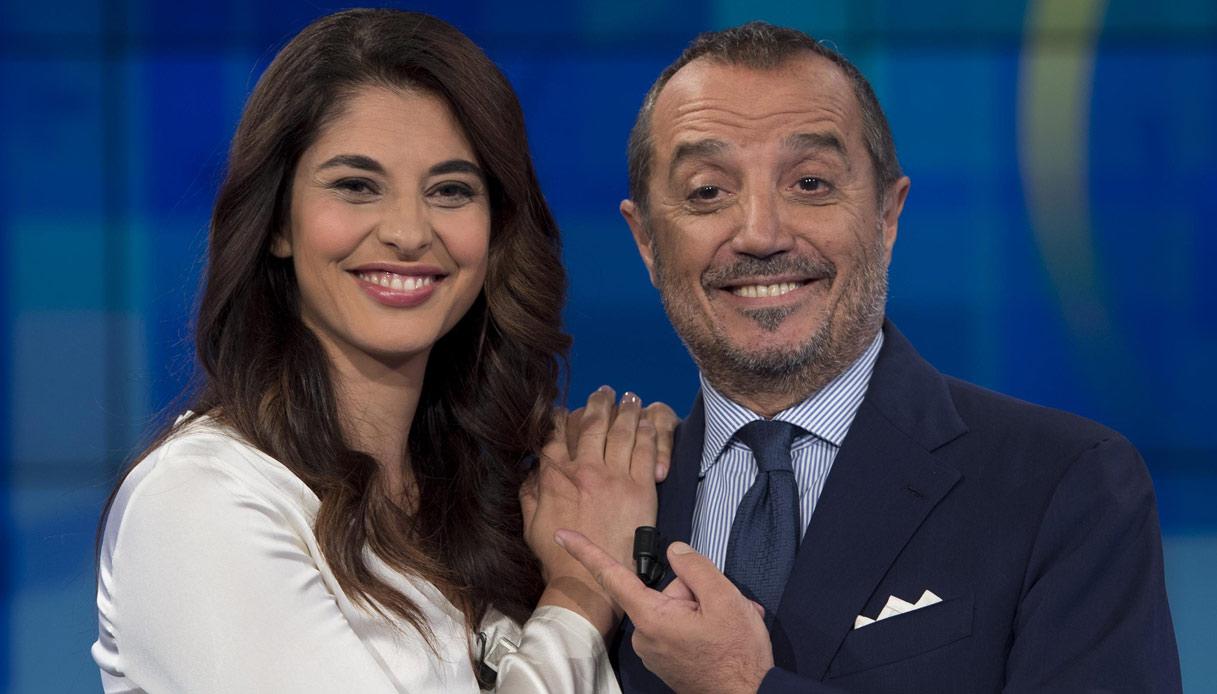I conduttori di UnoMattina Benedetta Rinaldi e Franco Di Mare
