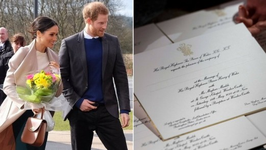 Matrimonio Harry e Meghan Markle: svelati gli inviti e il dress code