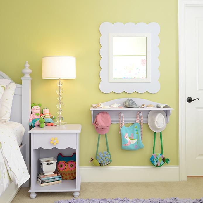 camera bambini specchio bianco