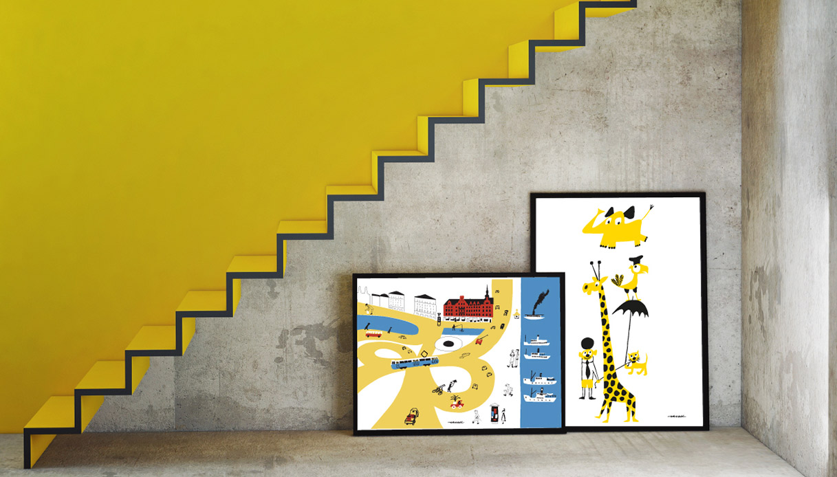 Scala parete gialla