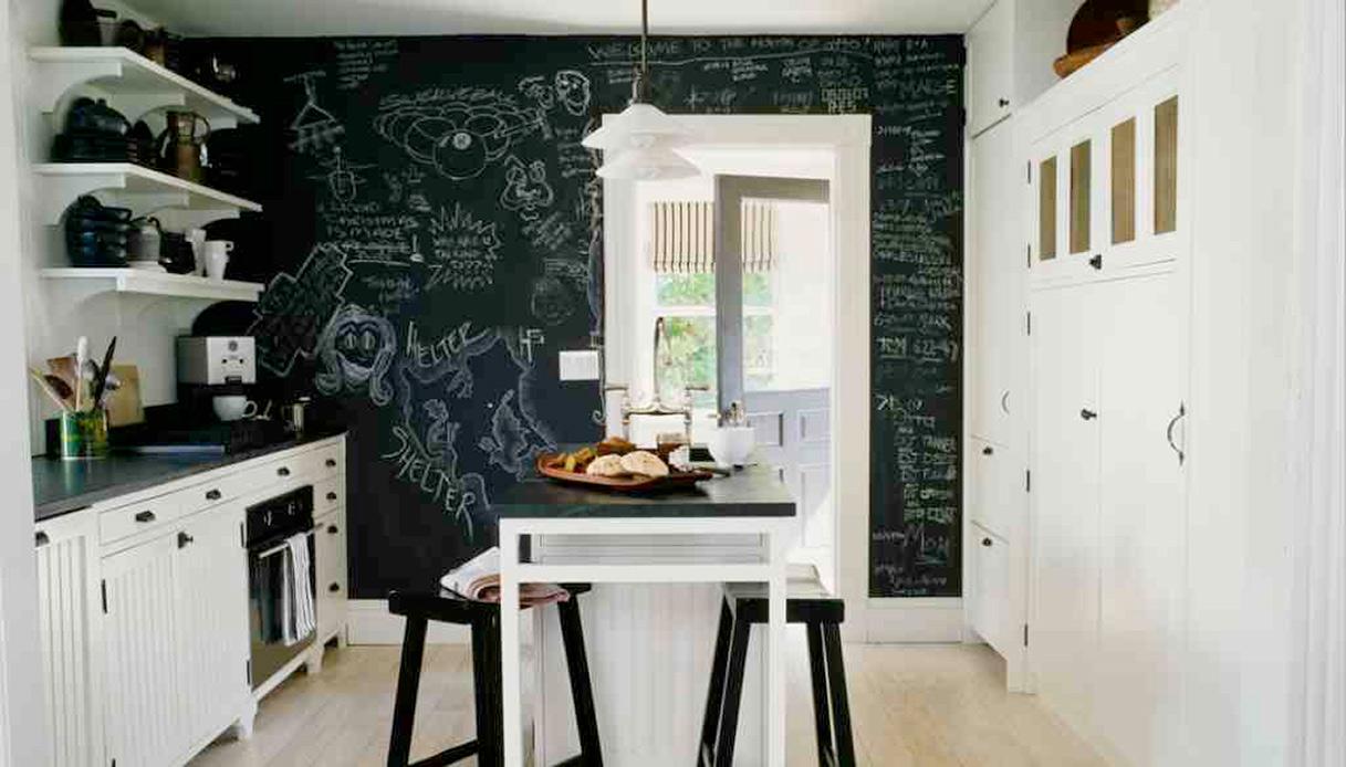 parete cucina lavagna