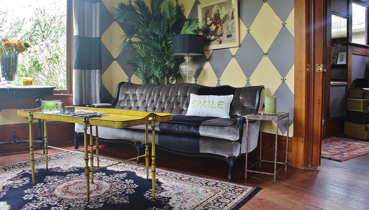 parete giallo grigio