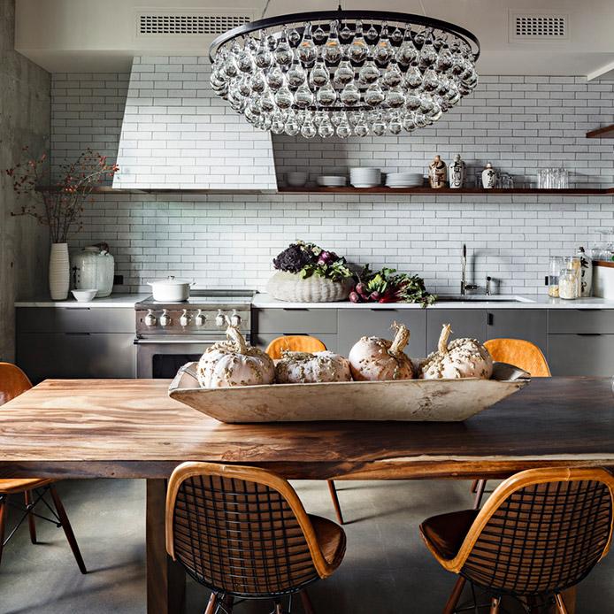 cucina vintage tavolo legno