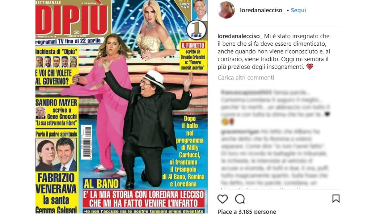 loredana lecciso instagram