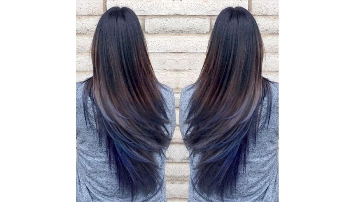 Tinta unicorn per capelli castano scuri