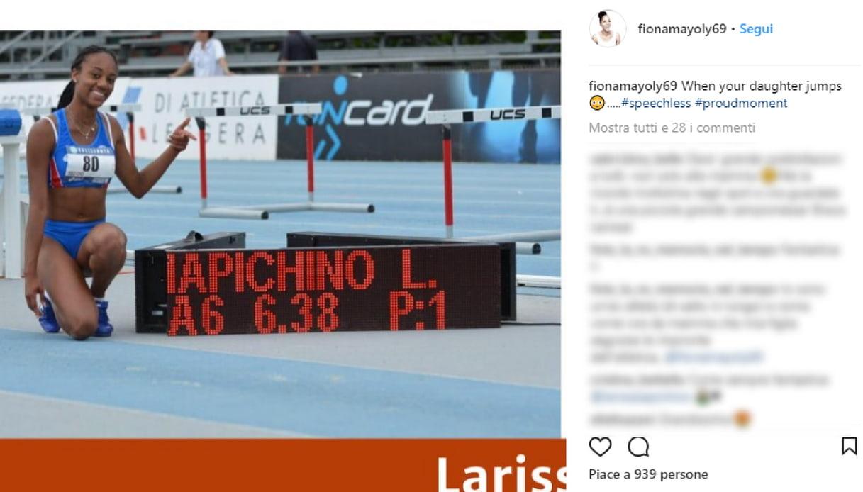 Larissa Iapichino e il super salto: gioia di mamma Fiona May