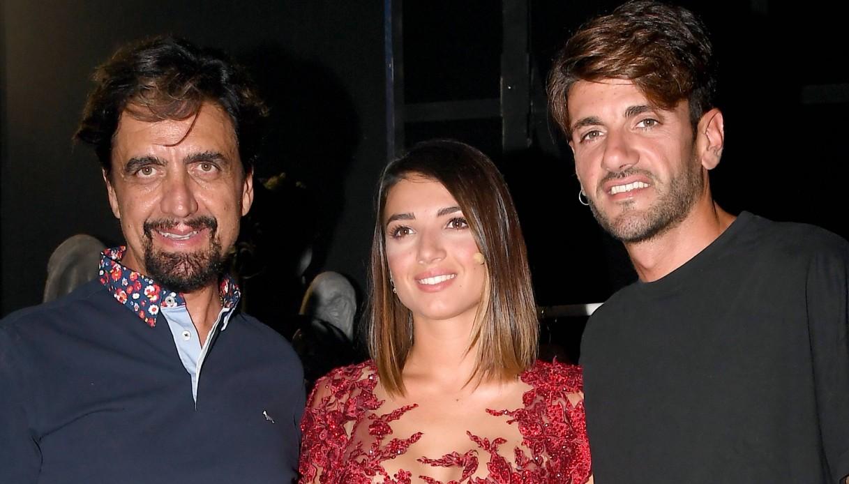 Rebecca con papà Valerio Staffelli e il fidanzato Alessandro Basile