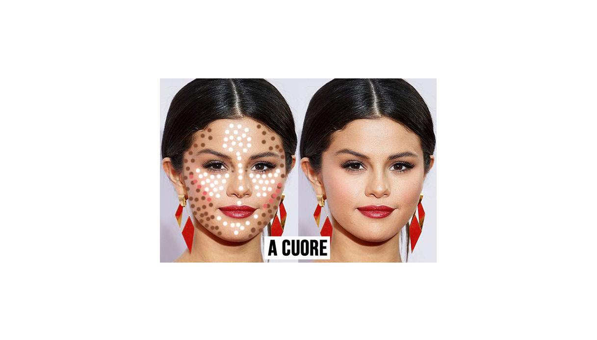 Come definire il viso basandosi sulla sua forma con il contouring: viso a cuore