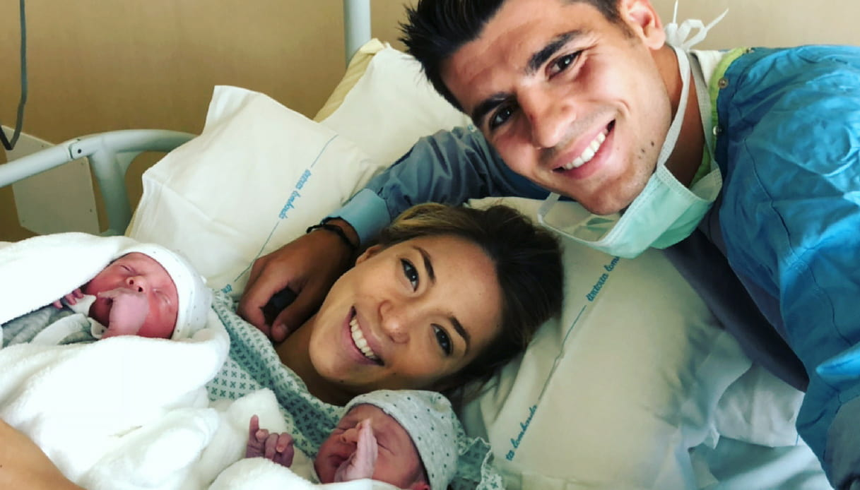 Alice Campello e Alvaro Morata sono diventati genitori di due gemelli
