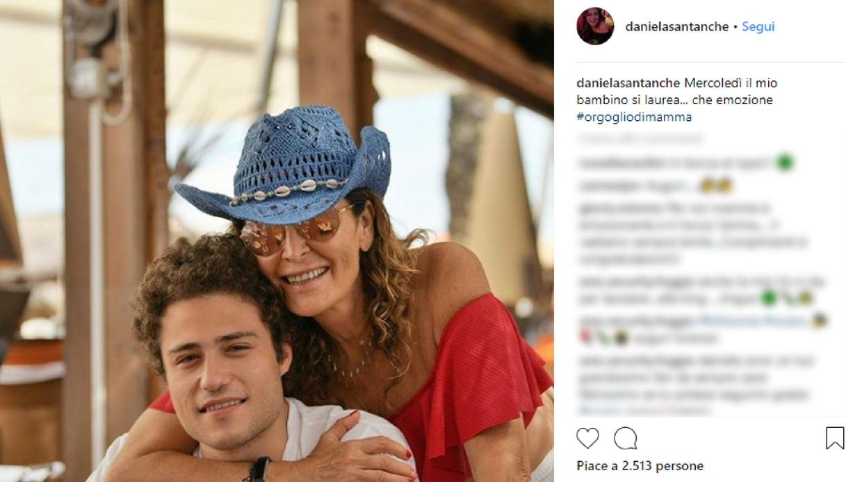 Daniela Santanchè con il figlio