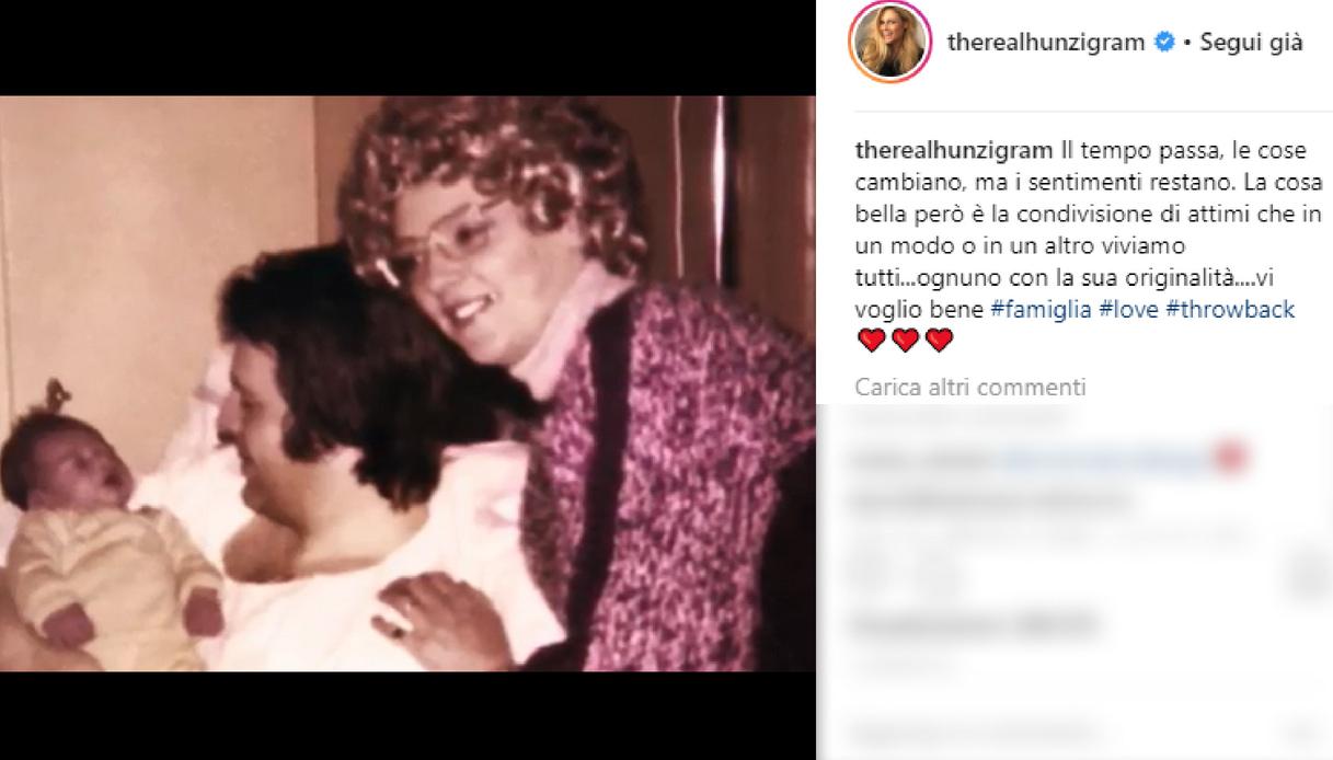 La dedica di Michelle Hunziker alla famiglia
