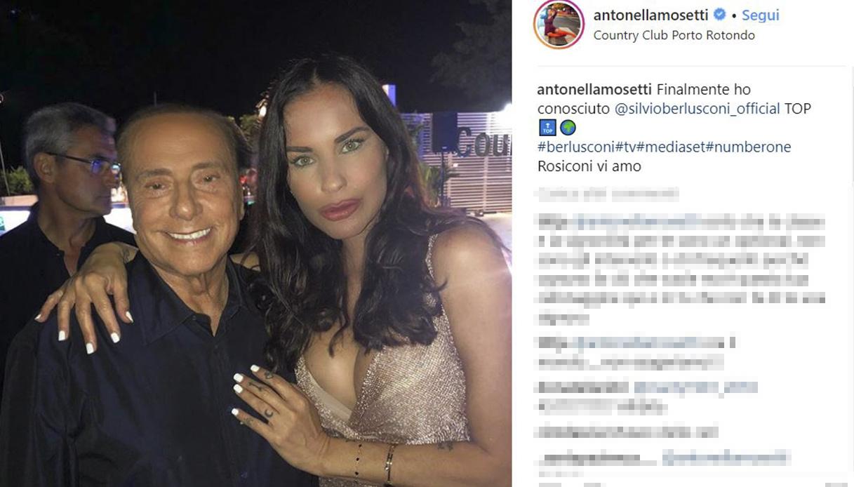 Antonella Mosetti e Silvio Berlusconi