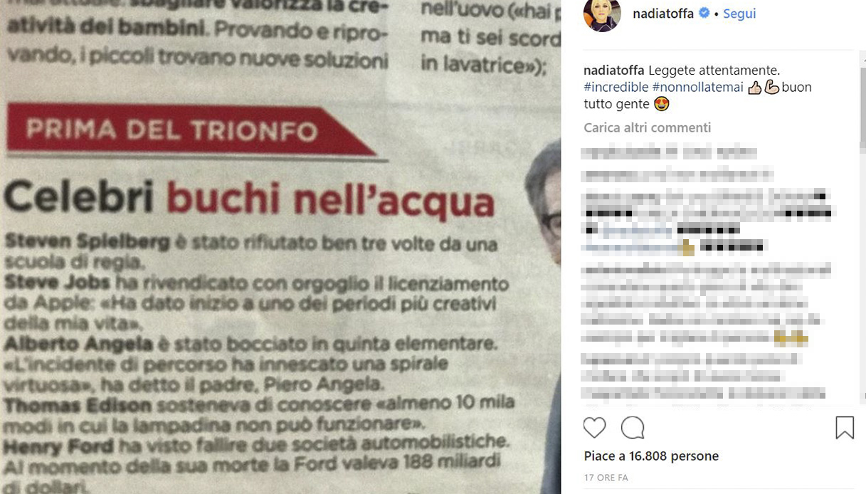 Nadia Toffa - Instagram