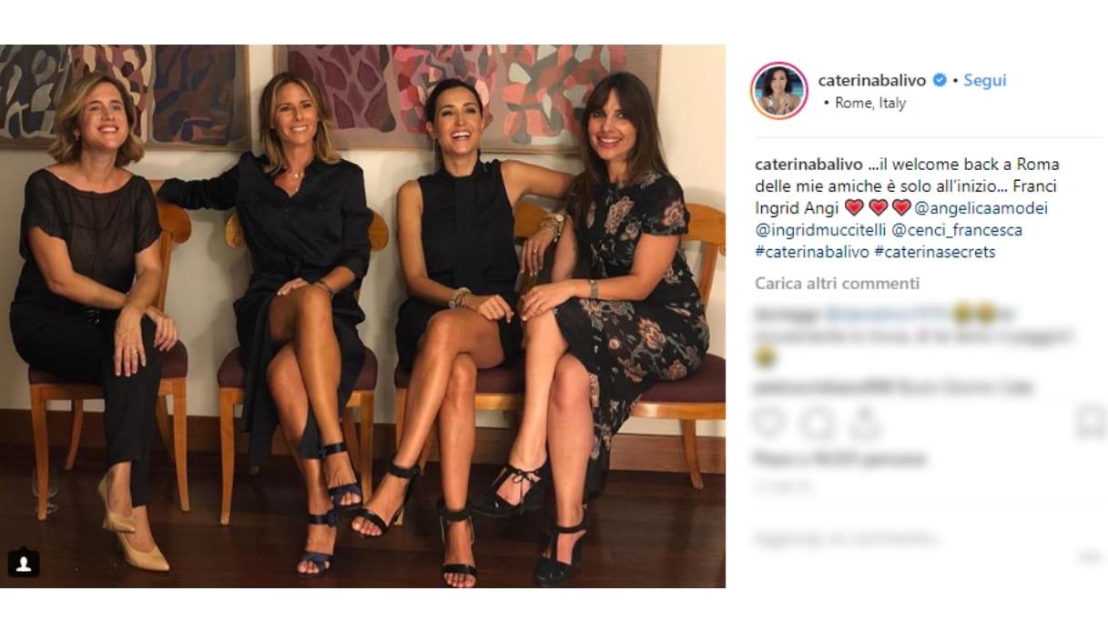 Caterina Balivo e le amiche Instagram