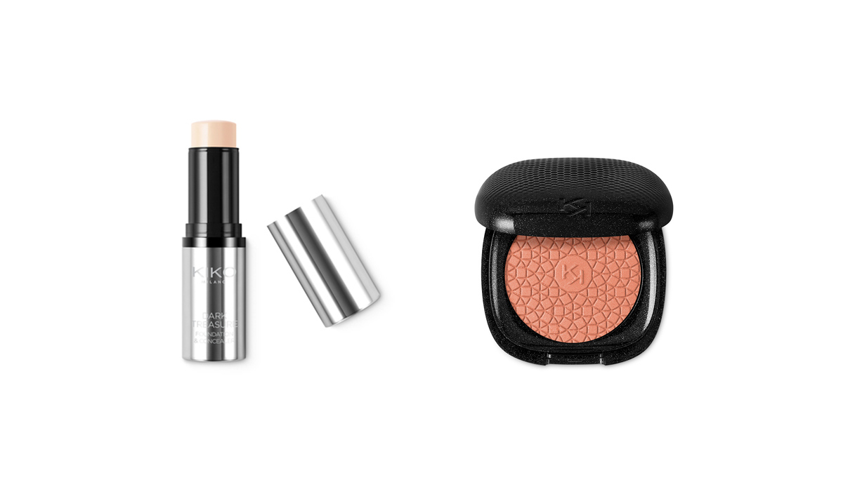 Foundation & Concealer e Blush Dark Treasure di Kiko
