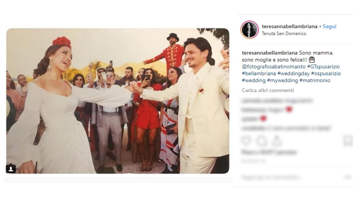Teresanna e il marito Instagram