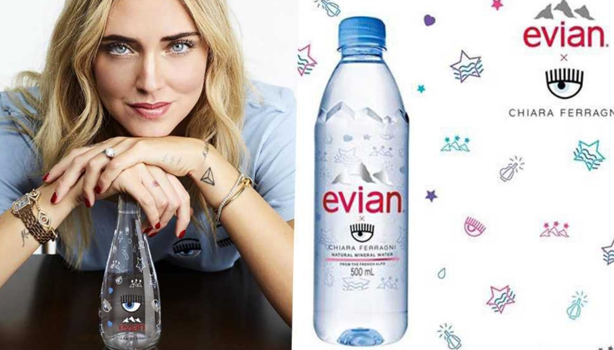 Chiara Ferragni acqua Evian