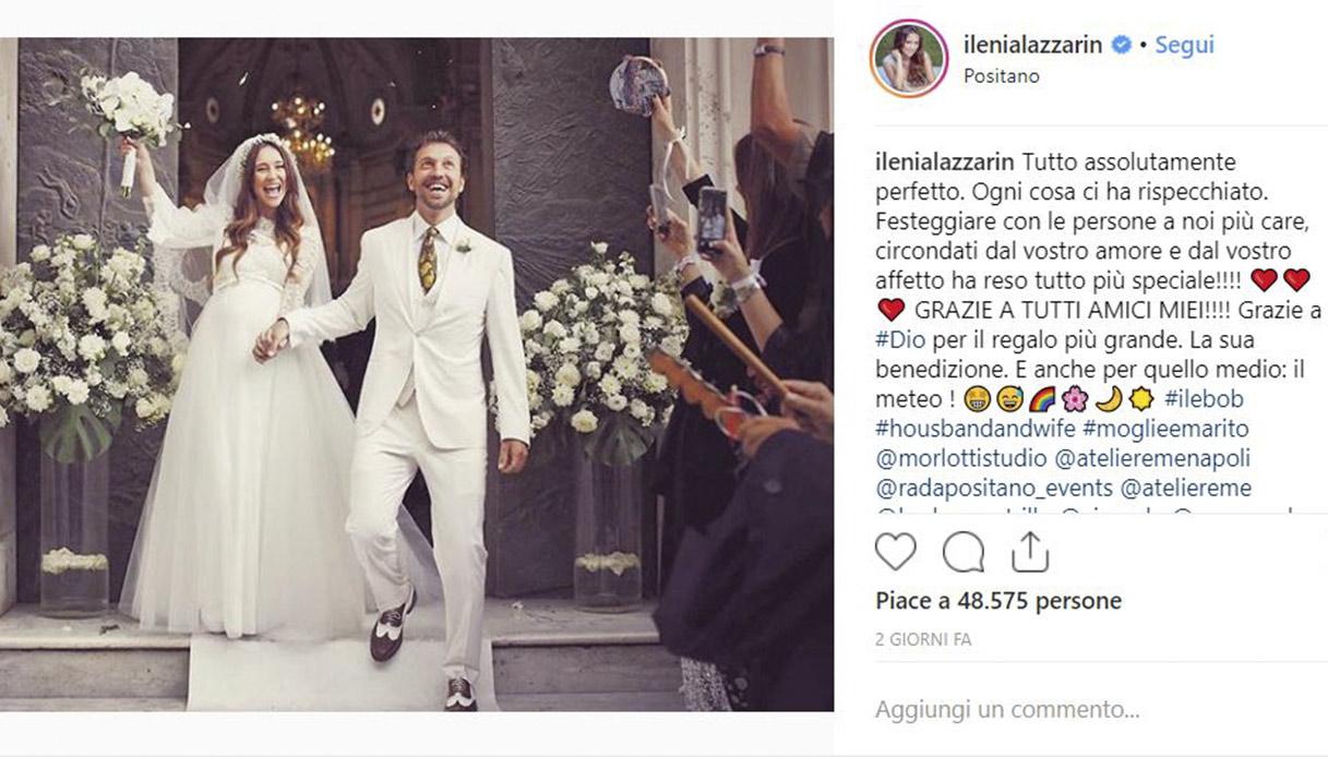 Ilenia Lazzarin sposa
