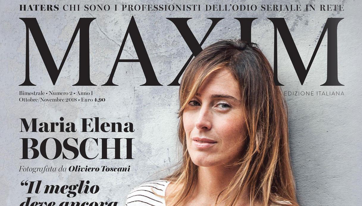 Maria Elena Boschi su Maxim