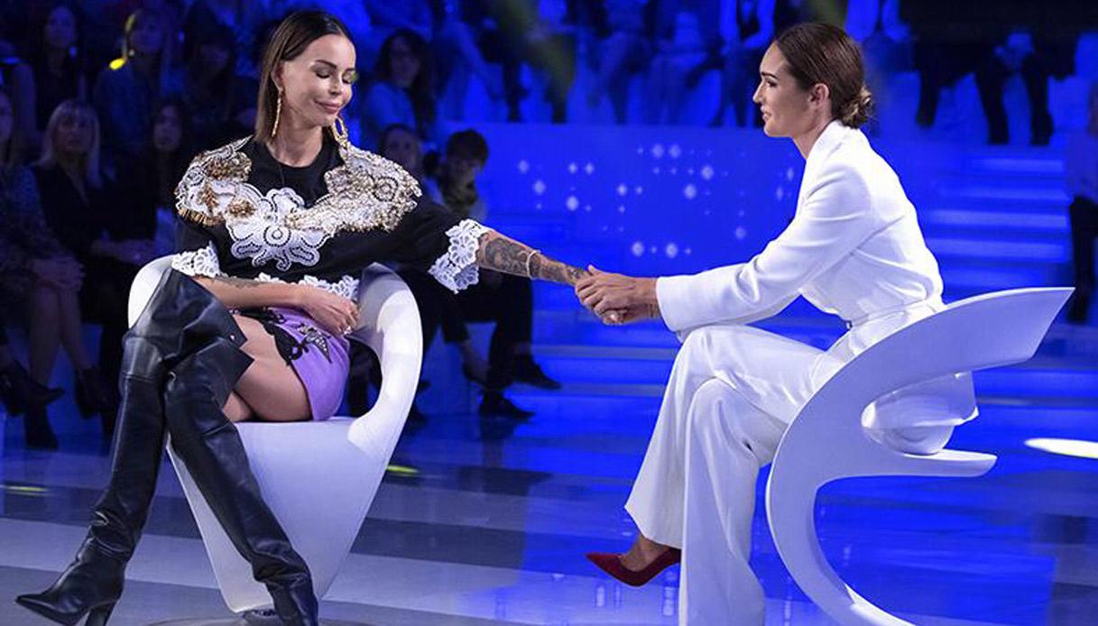 Nina Moric a Verissimo con Silvia Toffanin
