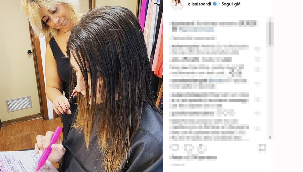Elisa Isoardi capelli