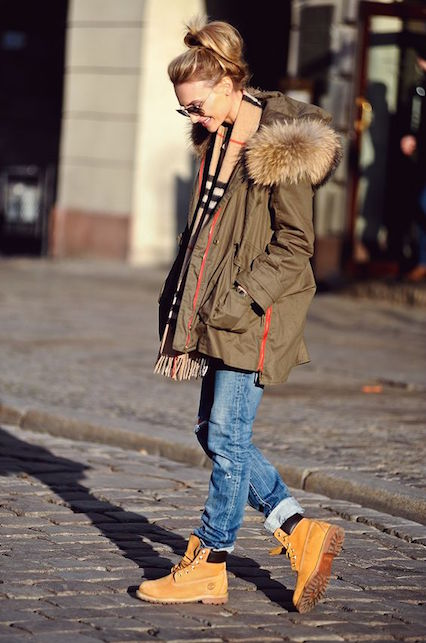 Parka time, come indossare un classico dello street style: con le Timberland