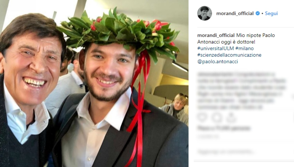 Gianni Morandi e Paolo Antonacci Instagram