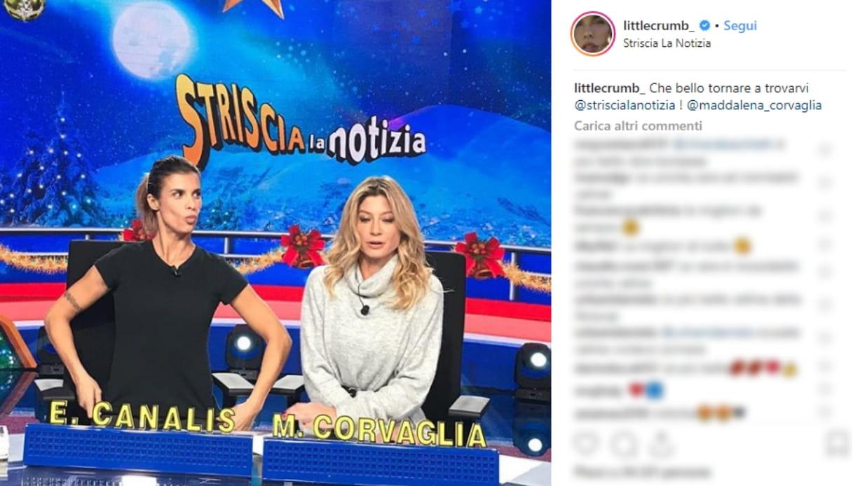 Elisabetta Canalis e Maddalena Corvaglia Instagram