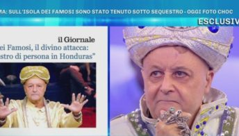 Domenica Live, Mago Otelma show contro Karina Cascella
