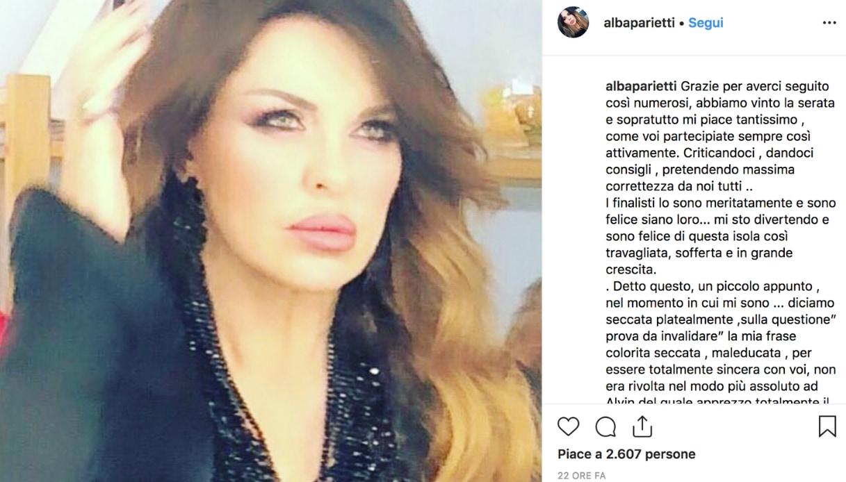 Alba Parietti Instagram