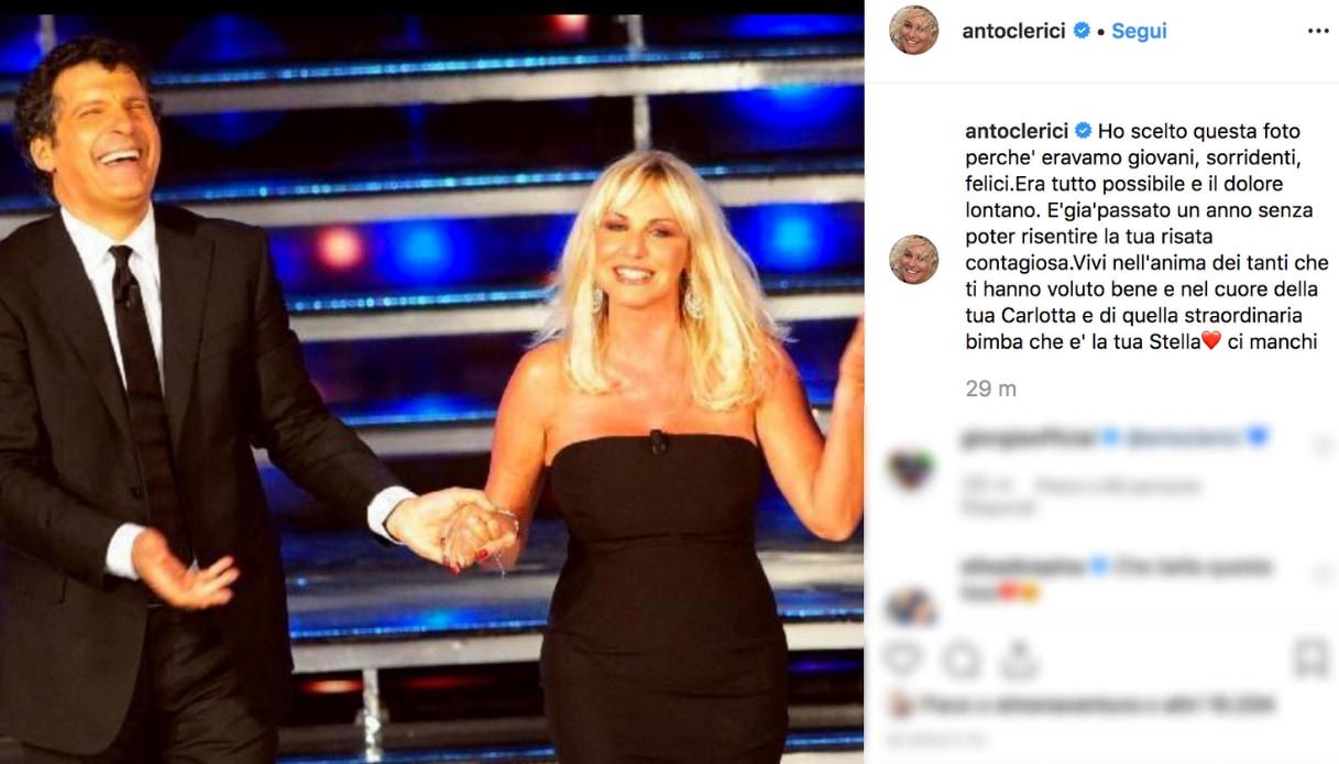 Antonella Clerici e Fabrizio Frizzi Instagram