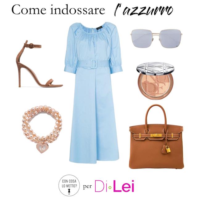 Come indossare l'azzurro: idee di look