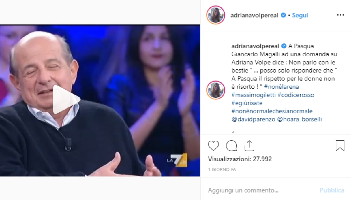 Adruana Volpe e Giancarlo Magalli
