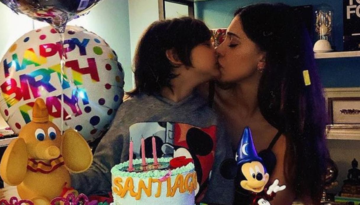Belen Rodriguez e Santiago