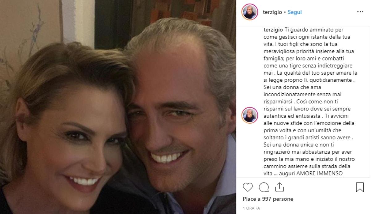 Simona Ventura e Giovanni Terzi Instagram