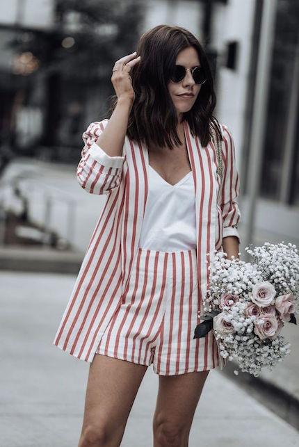 Giacca e shorts abbinati: ecco l'ultimo trend street style