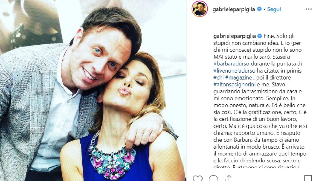 Gabriele Parpiglia e Barbara D'Urso Instagram