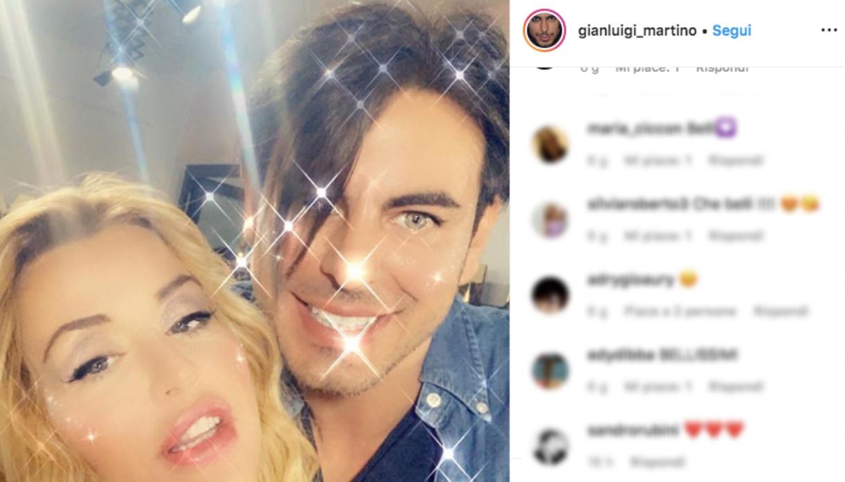 Gianluigi Martino e Valeria Marini Instagram