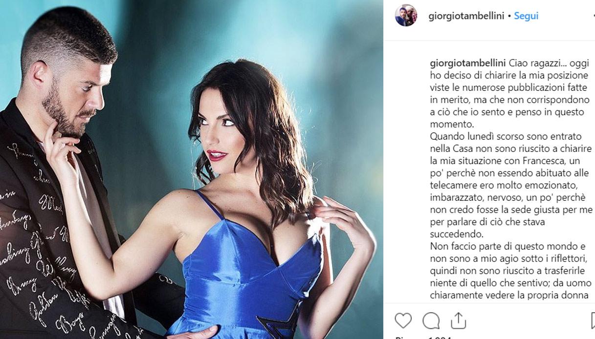 Giorgio Tambellini lascia Francesca De André