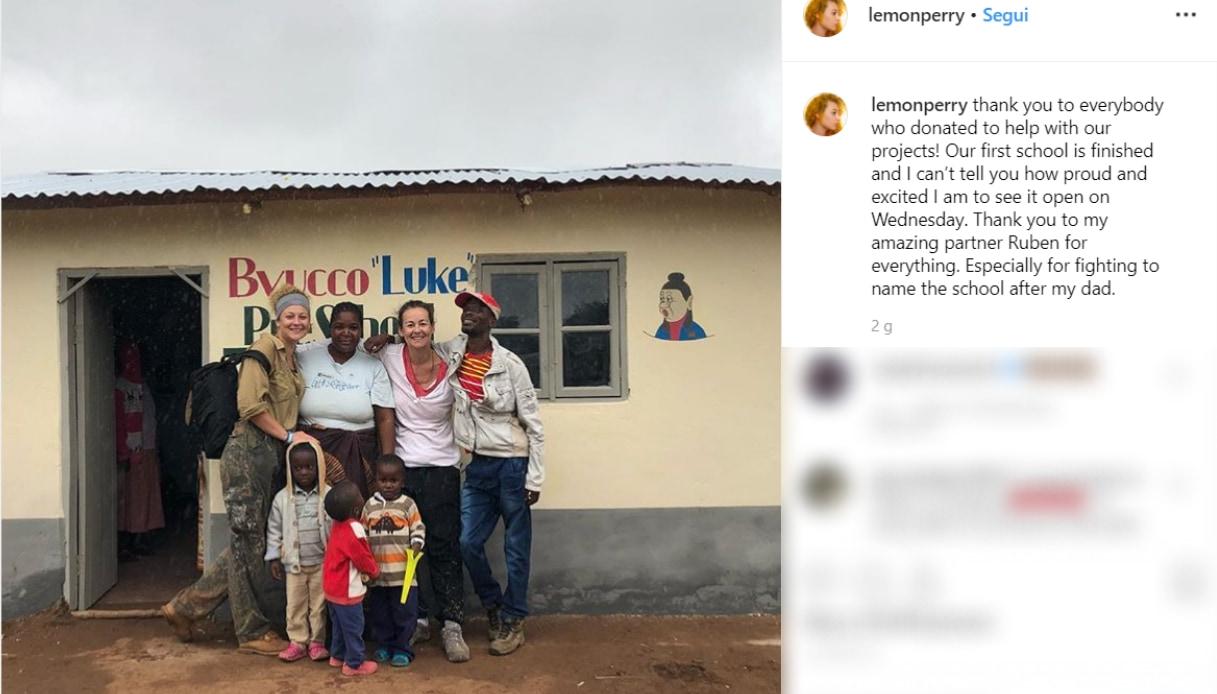 Luke Perry e Sophie Instagram