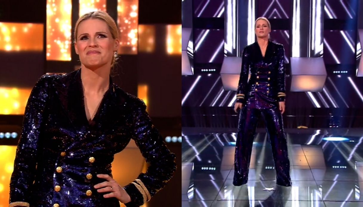 michelle hunziker all together now paillettes